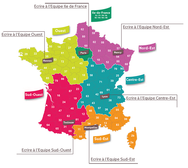 Carte contacts action sociale